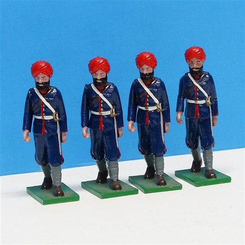 MI-310 - Indian Troops Marching (4 figs) - Trophy - 54mm Metal - No Box