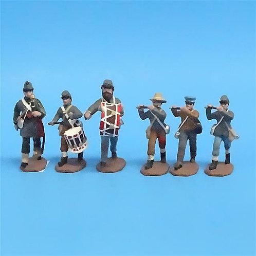 CORD-0610 - Confederate Musicians (6 Figures) - ACW - CC - 54mm Metal - No Box
