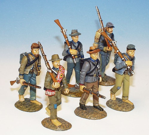 ACI.9 - 6 Marching, Set One, Confederate Infantry