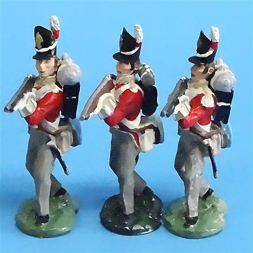 CORD-N0172 - British Infantry - Standing Firing (3 Pieces) - All the King's Men
