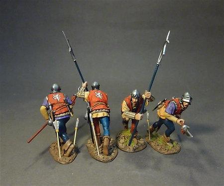 NFYORK-09N Yorkist Billmen (4 figs)  Retinue of John Howard, 1st Duke of Norfolk