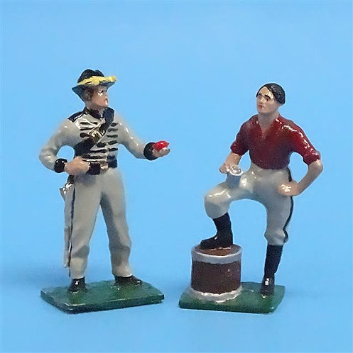 CORD-0601 - Confederates at Rest - (2 Figures) - ACW - Stars and Stripes - 54mm