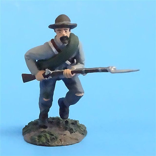 CORD-0681 - Confederate Infantry Charging #2 - ACW - Britains (Set 31004) - 54mm