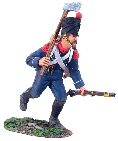 36032 - French Light Infantry Voltigeurs Charging with Axe No.1