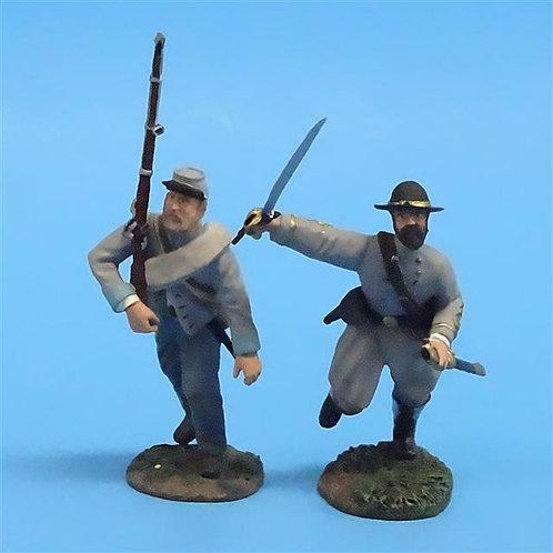 CORD-0675 Confederates Advancing (2 Figures)  ACW - Britains 54mm Metal - No Box