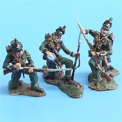 CORD-N0104 - 95th Rifles - Firing Line (3 Pieces) - Collector's Showcase - 54mm