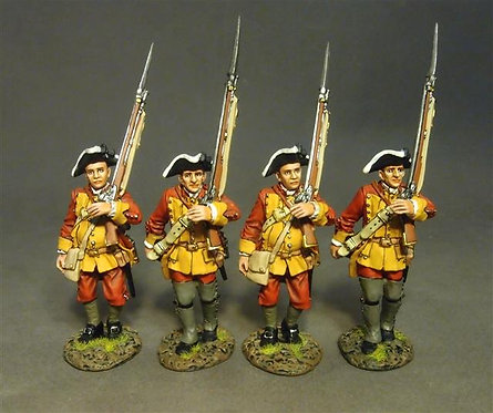 RRBC-06N - Connecticut Provin. Regt. of Foot, 4 Line Infantry Marching, Set 2