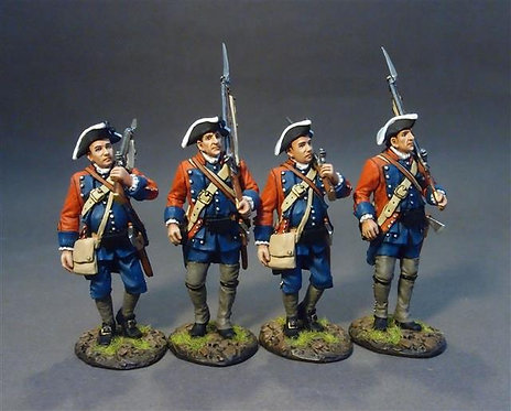 RRB60-11N - 4 Line Infantry Marching  60th (Royal American) Regiment of Foot