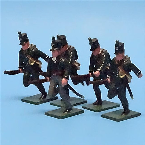 MI-442 - 95th Rifles Advancing - (5 figs) - Soldiers of the World - 54mm Metal