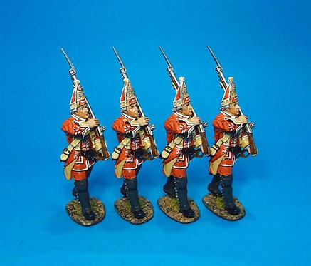 QB-40N - 4 Grenadiers Marching Boxed Set #3  British 35th Regiment of Foot