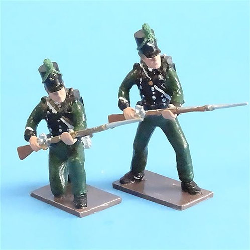 CORD-N0109 - 95th Rifles - (2 Pieces) - Soldiers of the World- 54mm Metal