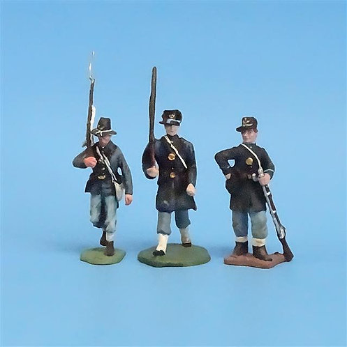 CORD-206 - Iron Brigade (3 Figures) - Manufacturer Unknown - 54mm Metal - No Box