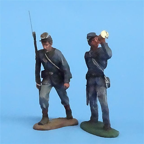 CORD-042 Union Infantry (2 Figures) - Manufacturer Unknown - 54mm Metal - No Box