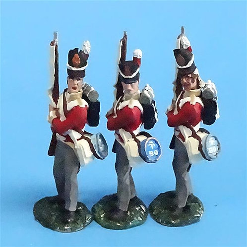 CORD-N0149 - British Infantry - Port Arms (3 Pieces) - All the King's Men  54mm
