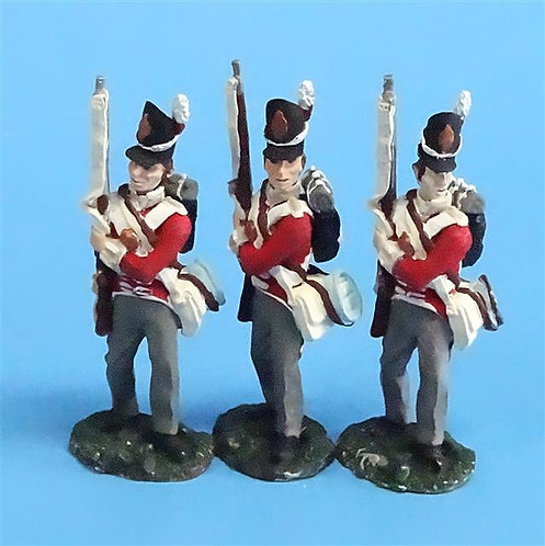 CORD-N0154 - British Infantry - Port Arms (3 Pieces) - All the King's Men  54mm