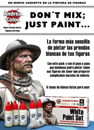 ACS-003 - White Paint Set - Andrea Color