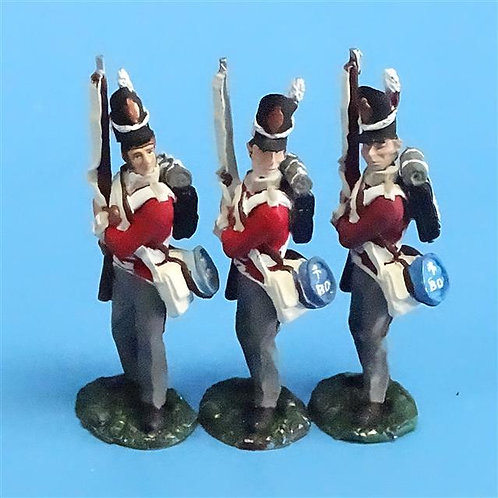 CORD-N0148 - British Infantry - Port Arms (3 Pieces) - All the King's Men - 54mm