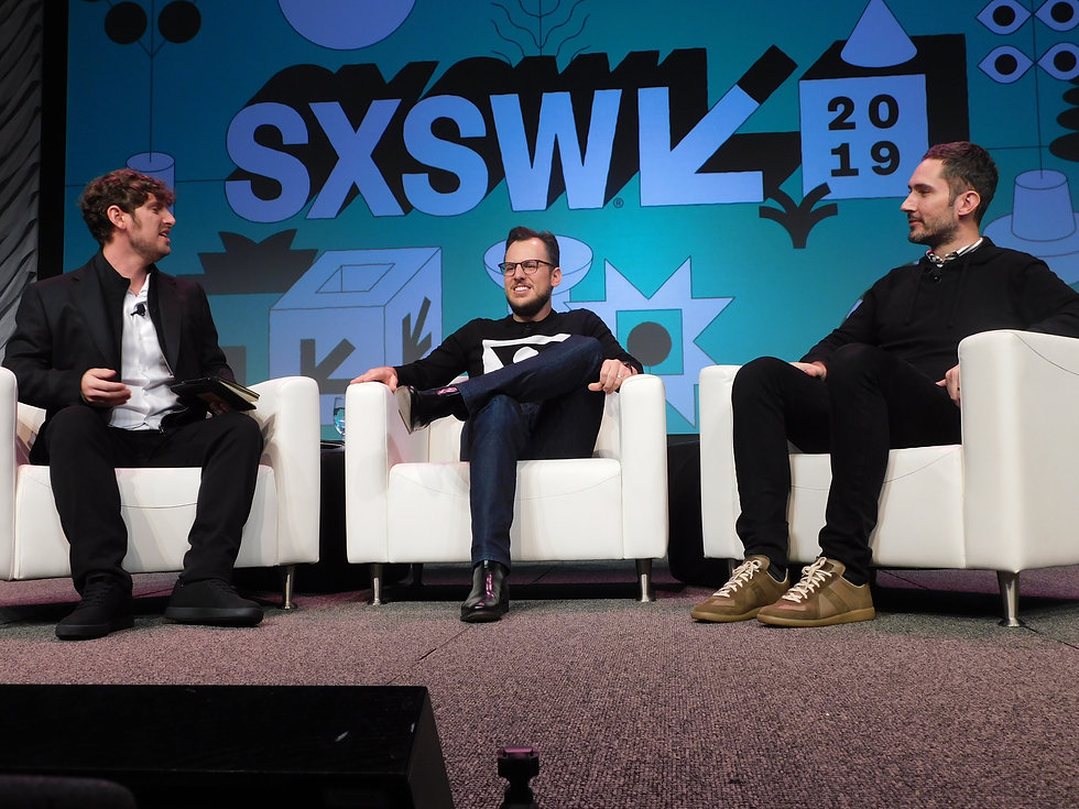 Josh Constine (TechCrunch) , Mike Krieger and Kevin Systrom (Co-Founders of Instagram) Marketing Venture