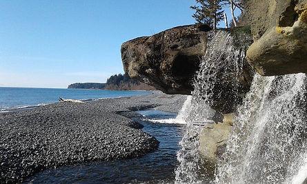 Sand Cut Beach Waterfall