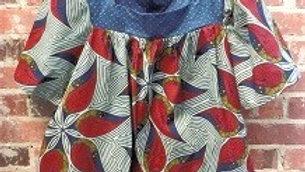 Mixed Print Tunic Top