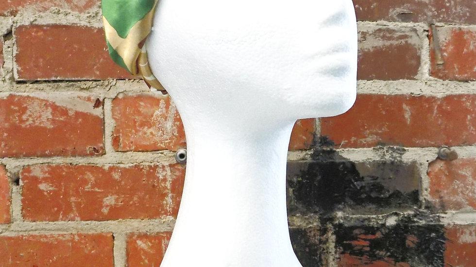 Poly/Silk Turban Headband-Ankara