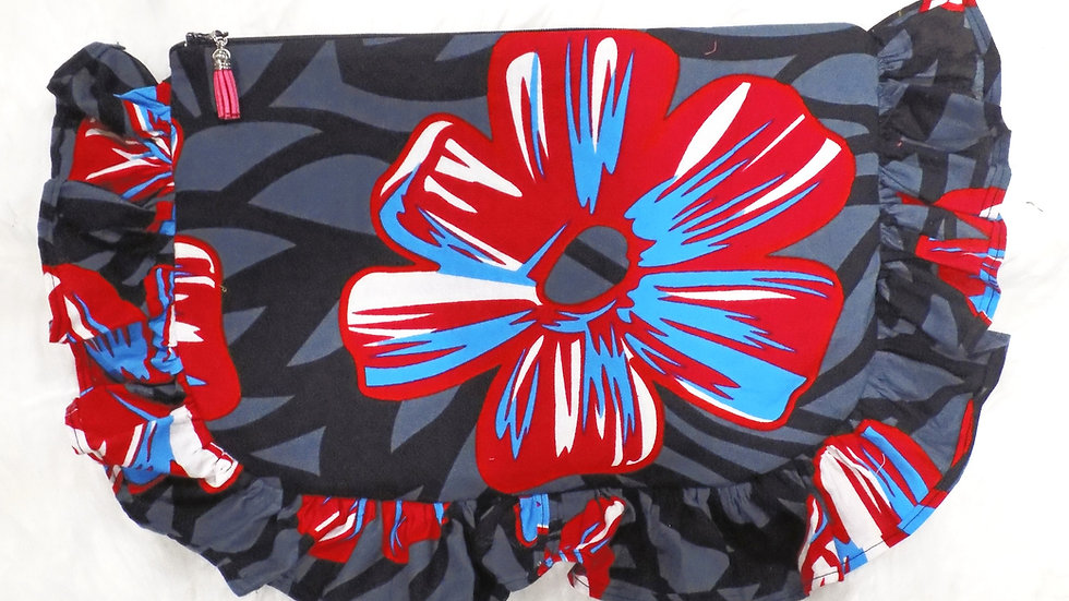 Ankara Print Ruffled Clutch