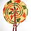 Thumbnail: Ankara and Leather Folding Fan