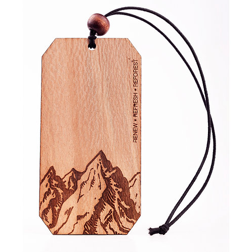 Mountains | Wooden Car Diffuser