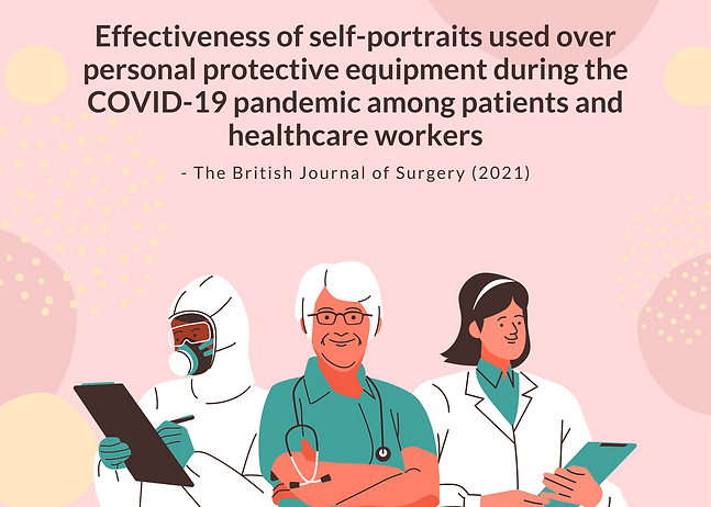 Effectiveness of self-portraits used over personal protective equipment during the COVID-1