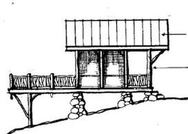 Treehouse Pavillion, Lake James      ©2008  Kenneth J. Wertheim, AIA, Architect