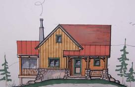 Cabins at Creston,  Creston Mountain, NC            Design by Kenneth J. Wertheim