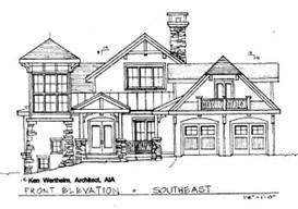 Adirondack Style Homes   ©2008  Kenneth J. Wertheim, AIA, Architect