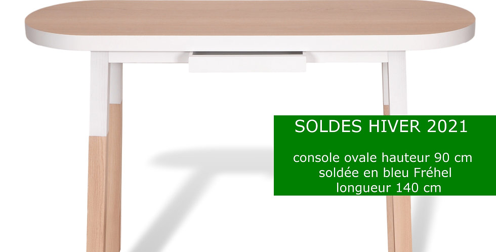 Console ovale H.90 cm - collection EGEE