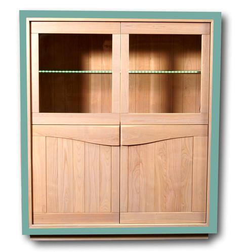 vitrine en merisier 4 portes collection stella meubles de designers france mon petit. Black Bedroom Furniture Sets. Home Design Ideas