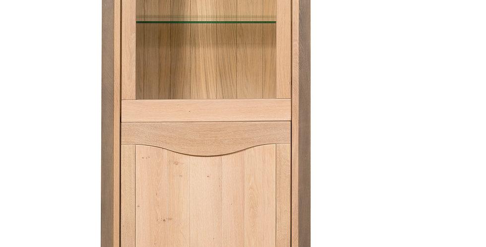 Showcase cabinet 2 doors - in oak - STELLA collection