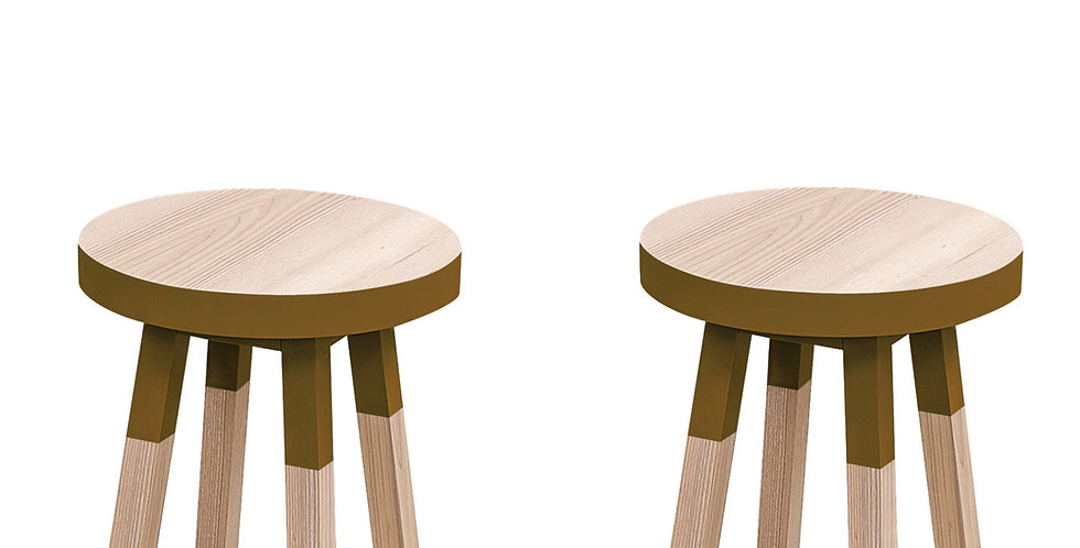 2 tabourets ronds - collection EGEE