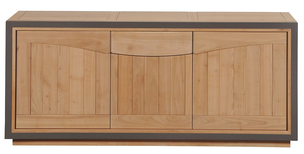 Sideboard 3 doors - in cherrywood - STELLA collection