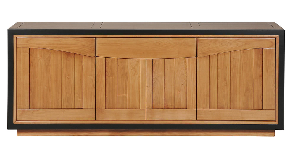 Sideboard 4 doors - in cherrywood - STELLA collection