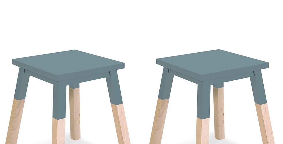 Square stool - EGEE collection (pack of 2)