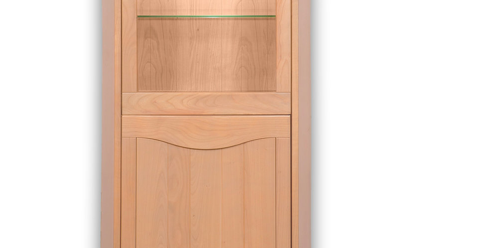 Showcase cabinet 2 doors - in cherrywood -  STELLA collection