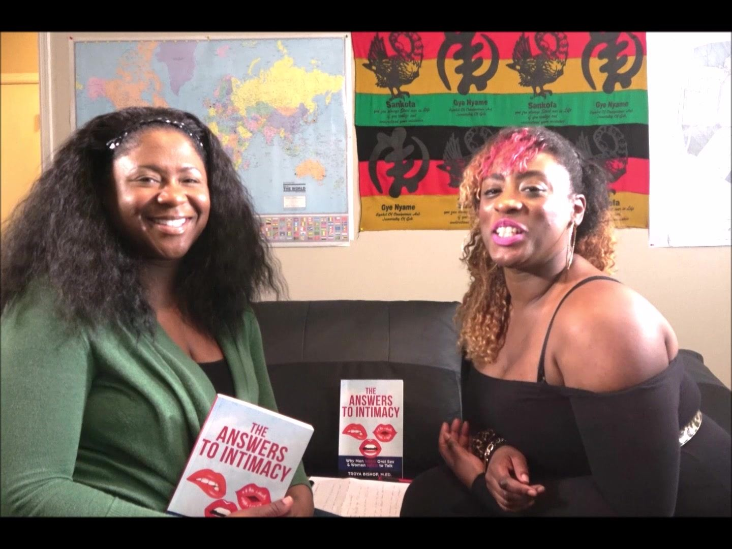 """International Television Personality, Kim Dankoor, asks educator and author,Troya Bishop,  Why did you write the book, """"The Answers to Intimacy"""".  #TheAnswersToIntimacy  #Love #Sex #Relationships #BlackLoveMatters"""