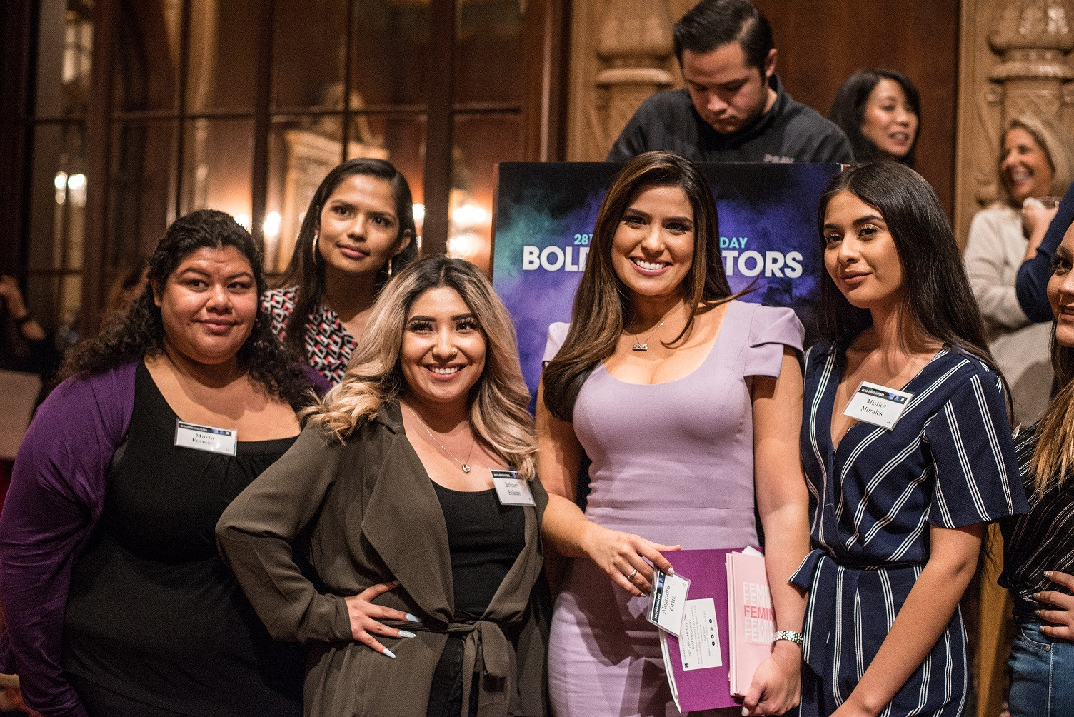 Moderator Alejandra Ortiz of Telemundo52 with conference attendees