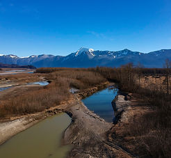 Mount Cheam, Chilliwack, BC view from the Fraser River