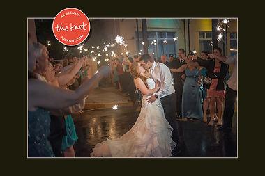 WeddingBrideGroomSparklersExitAsSeenOnTh