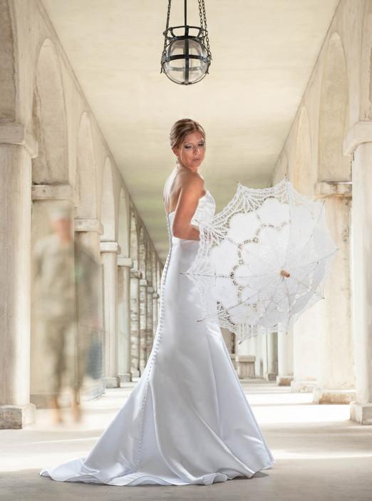 Bride Portrait Parasol Lightner Museum
