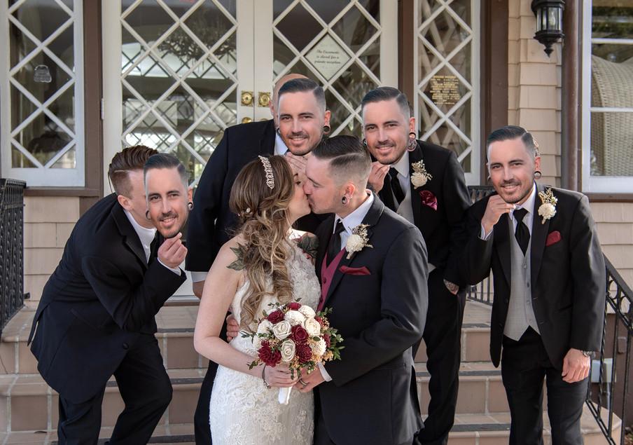 Groom Bride Casements Wedding