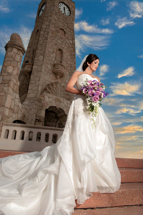 Clock Tower Banshell Bride Wedding