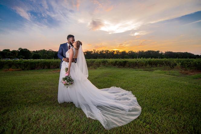 Blueberry Wedding Barn Bride Groom