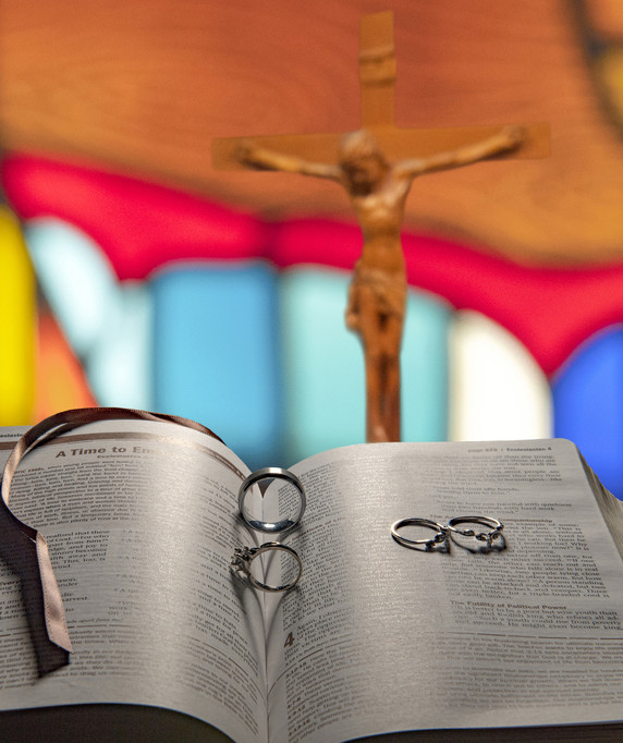 Wedding Bible Church Rings
