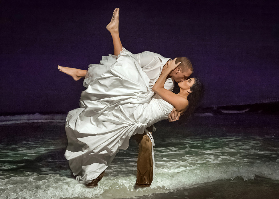 Beach Destination Elopement Bride Groom
